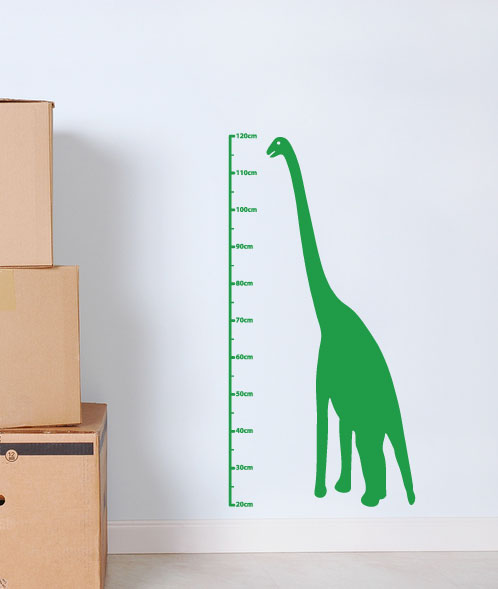 dinosaur height chart wall sticker   60 second makeover wall decals