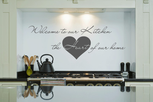 U201cWelcome To Our Kitchenu201d Wall Sticker